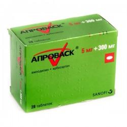 Апроваск, табл. п/о пленочной 5 мг + 300 мг №28