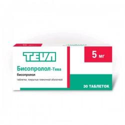 Бисопролол-Тева, табл. п/о пленочной 5 мг №30